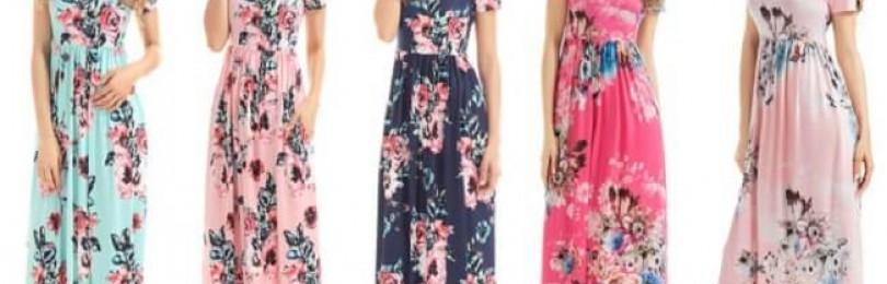 Модные женские платья летние