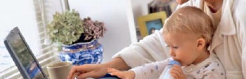 Открытый пост: Мама — за компьютером, ребенок — рядом?