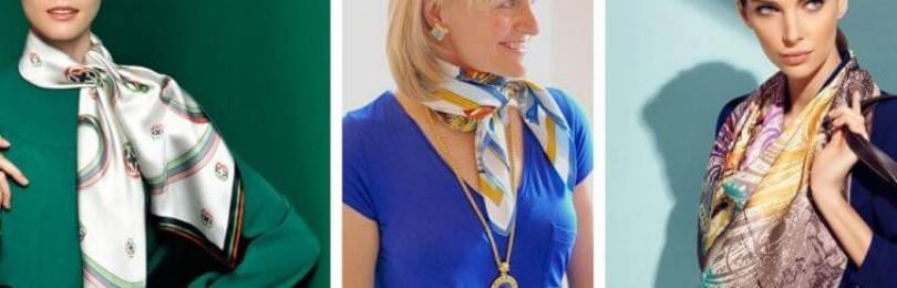 Женские шейные платки и шарфы