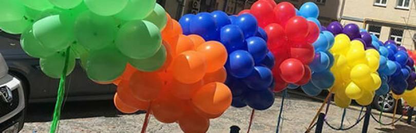 Воздушные шары с гелием. Идеальный воздушный дизайн