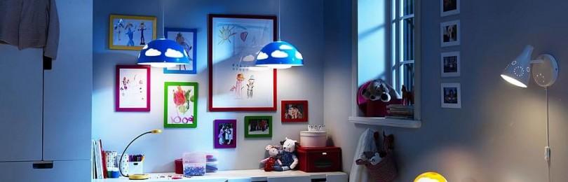 Как организовать освещение в детской