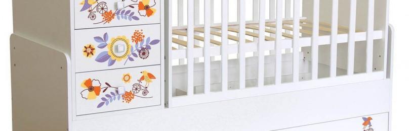 Кроватка-трансформер с комодом — лучшее спальное место для малыша