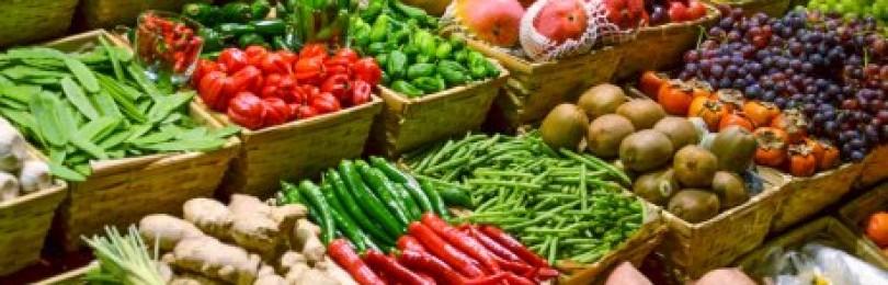 Покупка овощей и фруктов с грядки