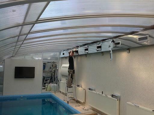 Климатическое оборудование для бассейна - осушитель воздуха